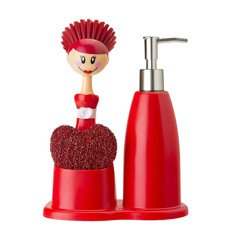 Spanish brand Vigar- Doll Brush + Cleaning liquid bottle (hand washing milk bottles) group