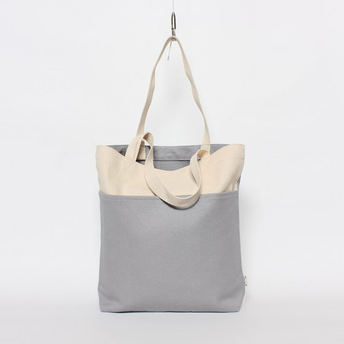 Five-cell bag canvas bag is particularly easy to use - light gray