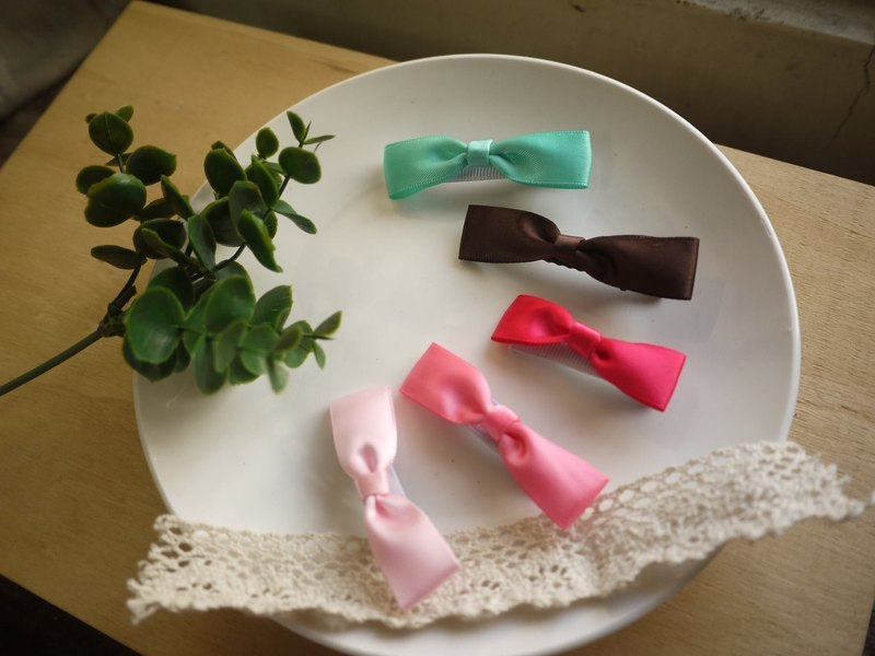 [5] Literary color optional section - Silk Satin hairpin / baby clip / duckbill clip