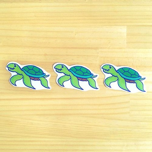 1212 design fun funny stickers waterproof stickers everywhere - Mr. Turtle