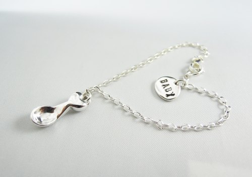 Silver Spoon Silver Hand Bracelet Masquerade/ Necklace/ Clavicle Chain/ Gift/ Remembrance Day
