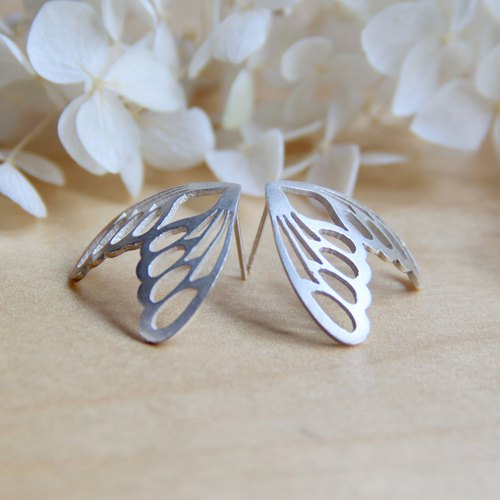 Silver Butterfly Series - Silver Butterfly Earrings - 925 sterling silver handmade earrings silver gift packaging