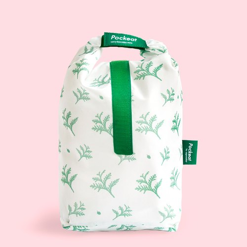 Good day | Pockeat green food bag (big food bag) - red dragonfly in the snow