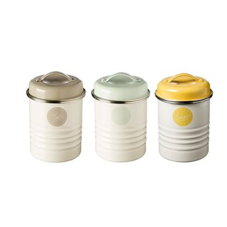 British Rayware industrial wind retro macarons coffee / sugar / tea bee storage tank group (three into)
