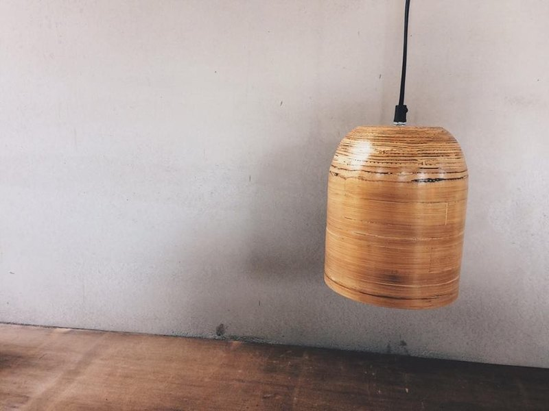 Early export Japanese bamboo hood series chandelier