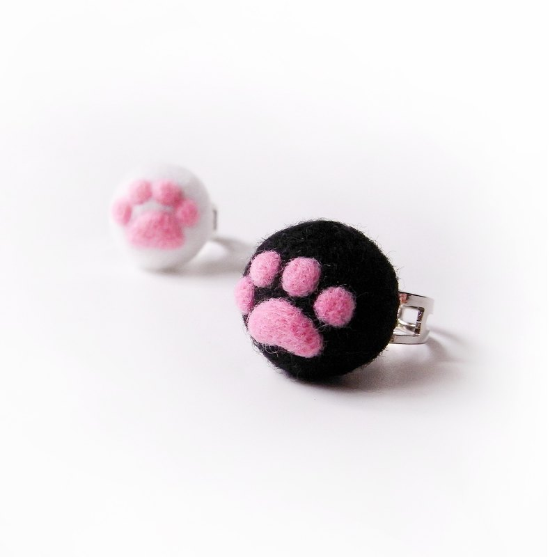 <Wool felt> Black Cats Paw Pads (S Size) - by WhizzzPace