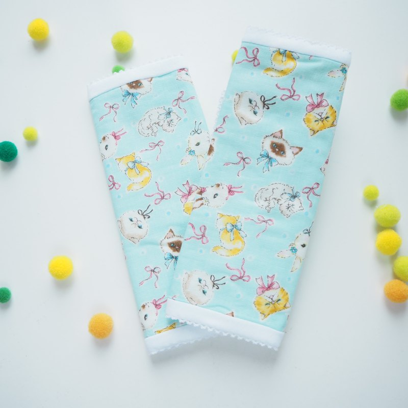 3ply double gauze strap cover - cats and rabbits - sucking pad
