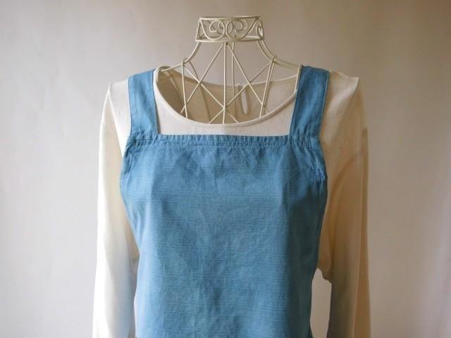 There ♪ Do the blue sky apron (indigo dyeing cotton) tomorrow weather