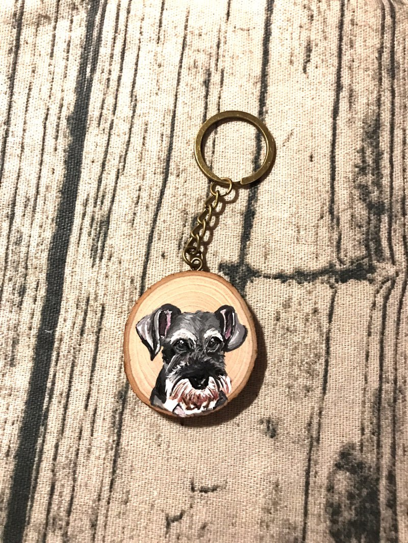 Wood key ring | Schnauzer