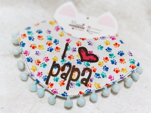 I love papa pet Scarf Necklace