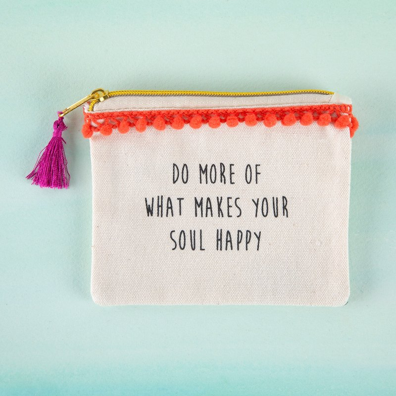Text coin purse - Do more soul happy∣CPRS125
