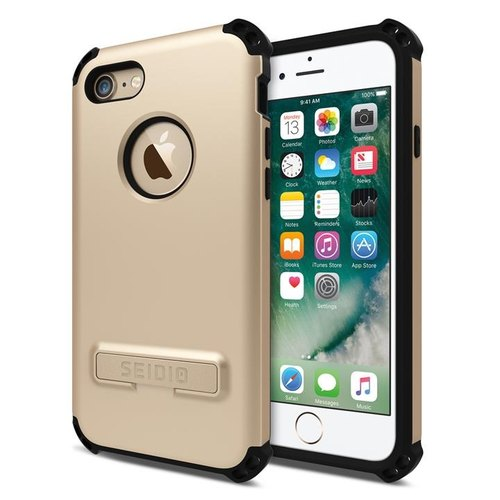 Military-class four-corner collision protection shell / phone shell for iPhone 7 / 8- Fashion Gold-DILEX series
