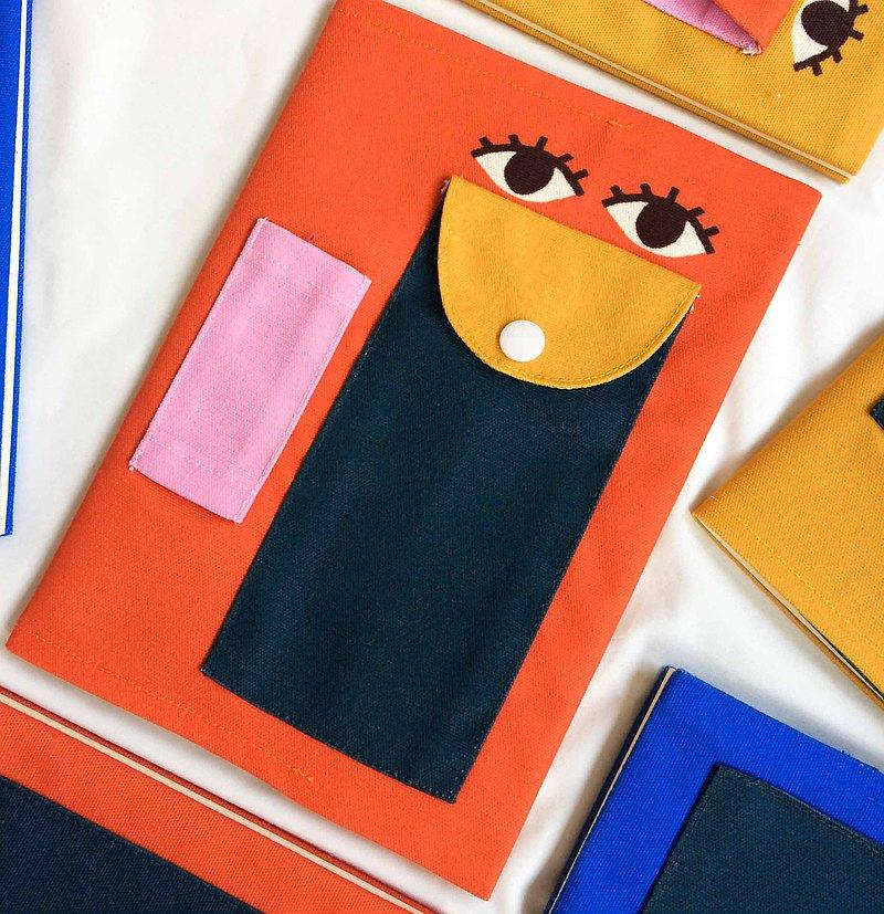 眼器官圖案筆記本(橙色)
