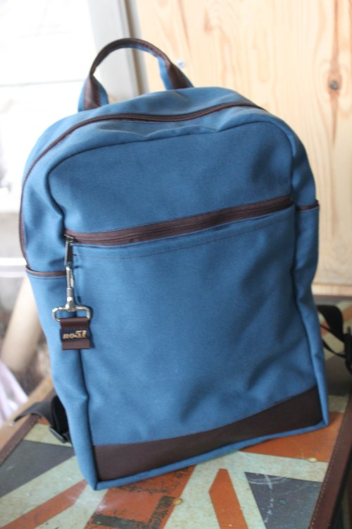 Lightweight Classic Turkish Blue Waterproof Canvas Backpack