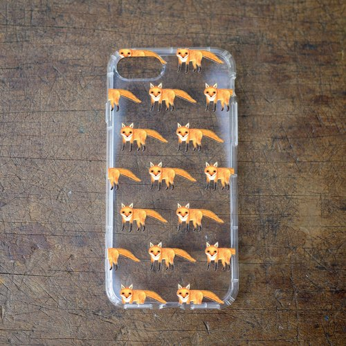 [Mr. Fox - air pressure drop mobile phone shell] Iphone / Android various models and animal designs, IPHONE, SAMSUNG, SONY, LG, HTC, ASUS, NOKIA, Oppo, millet, Huawei. Can be customized