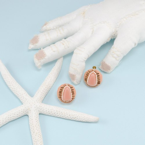statement and sparkle beaded circle earrings, gorgeous earrings,No.3