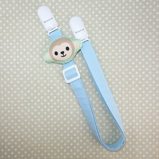Rabbit Mint Baby monkey smiley soft toy pillow anti-out chain clip / bibs folder / napkin folder / Universal clip (BBC-M001)