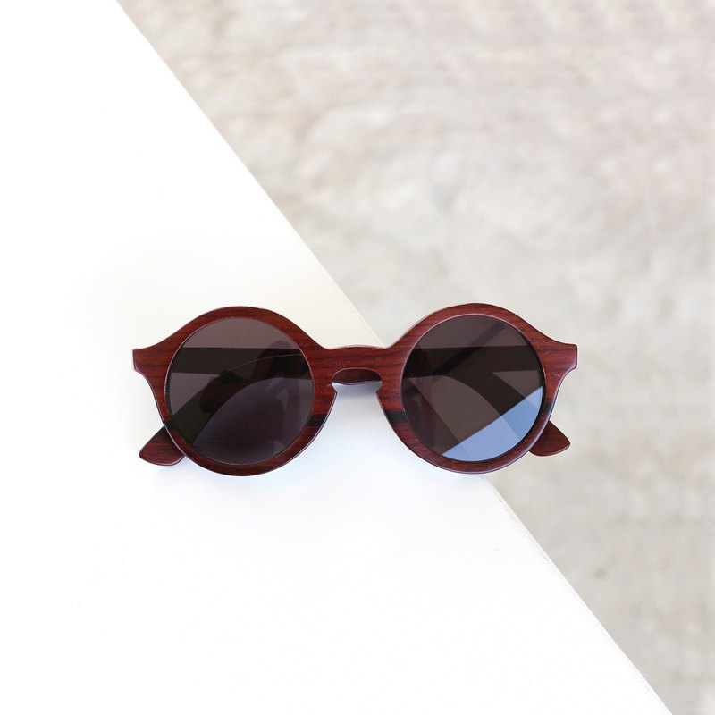 OLD MAN / Rose Wood , Handmade Wooden Sunglasses