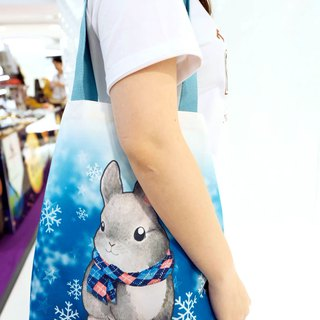 Grey rabbit canvas bag designed by yourself