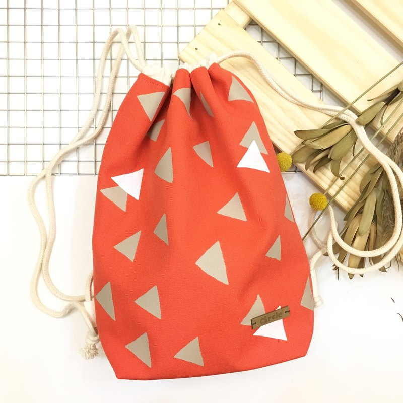 Hand-printed bunch backpack - Fengsen
