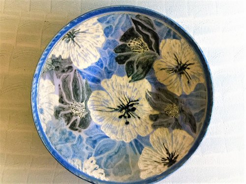 Flower rich art disk _ pottery dishes