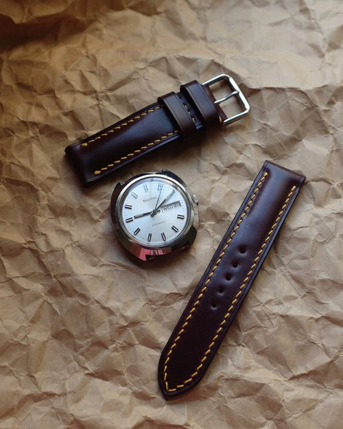 Cordovan watch strap, watch bands