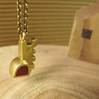 [Small house - Detached necklace] (red)