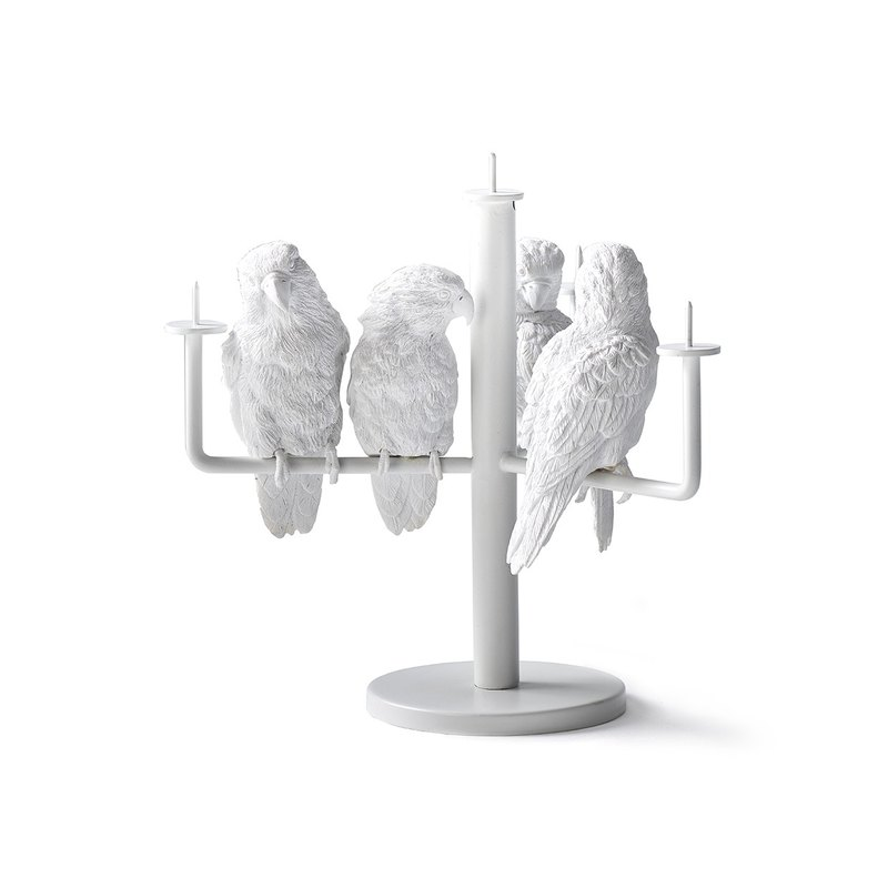 Parrot candlestick / Parrot X Candle Holder_four parrot