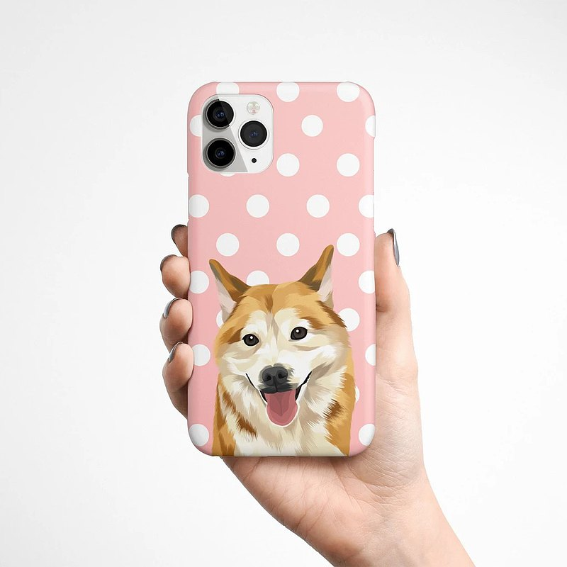 Customization | Pet Phone Case/Korean Hard Case (Full Body Portrait) | More than 60 backgrounds to choose