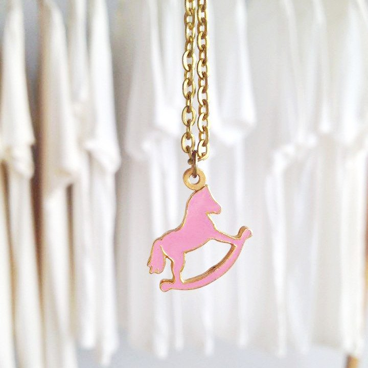 Rocking horse pendant, Horse pendant, Horse Necklace, Rocking horse Necklace