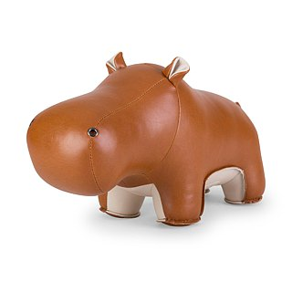 Zuny - Hippo Budy Styling Animal Bookend