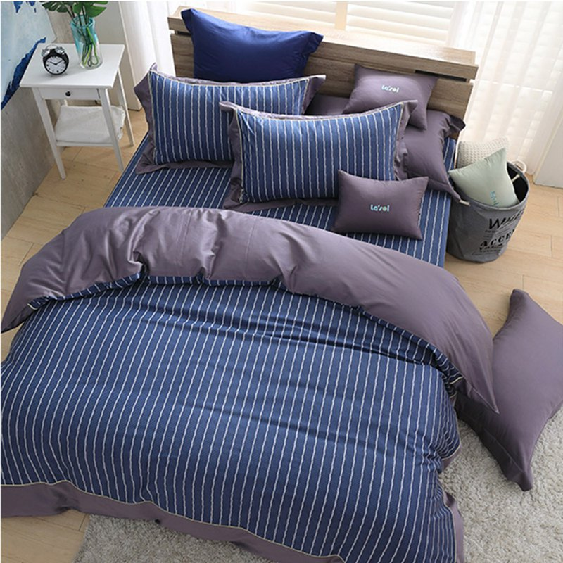 (Double) Moonlight-British Seal-High Quality 60 Cotton Dual-use Bed Set Four-piece Set [5*6.2 feet]