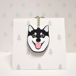 Shiba Inu (Black) - Key Chain - Pet Accessories - Pet Charm - Hairy Kids - Firewood - Custom - Acrylic - BU