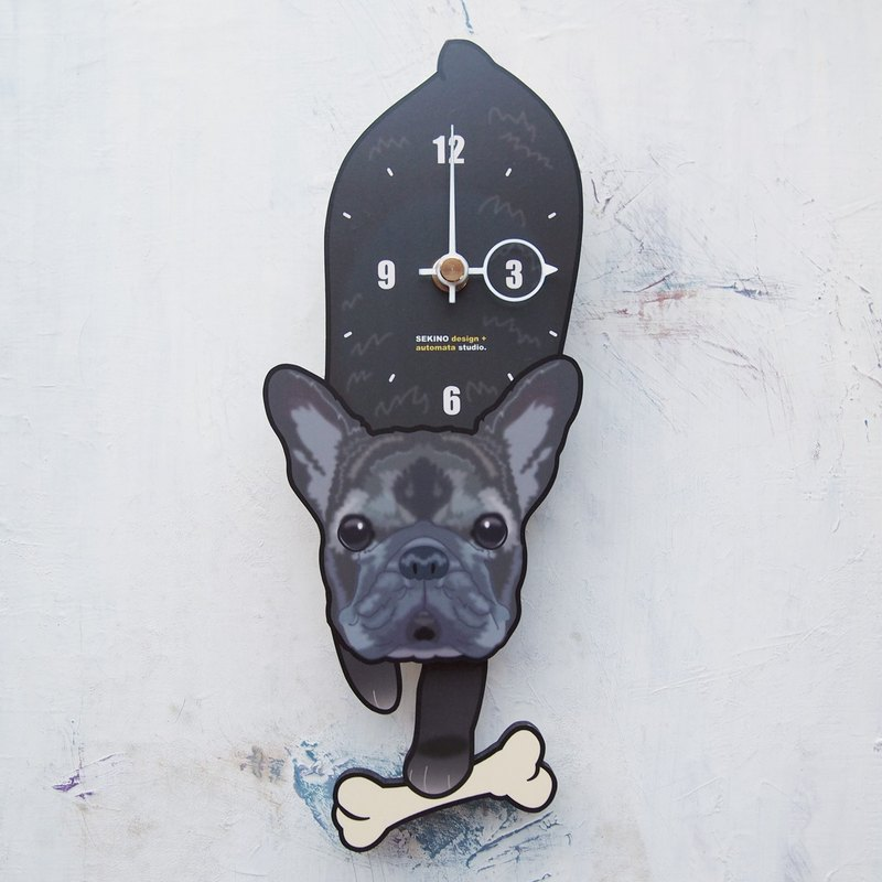 D-142 French bulldog - Pet's pendulum clock