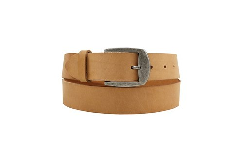 FULLGRAIN │ Italian vegetable tanned leather leather belt 3.5cm - ancient silver sword type buckle