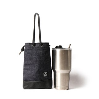 Idea bag [icleaXbag] beverage bag simple drink accompanying bag can be engraved tannin blue