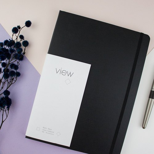 16K pure black. Wink. View. Classic Notebook - Pen Available - Inside Page 3 Optional