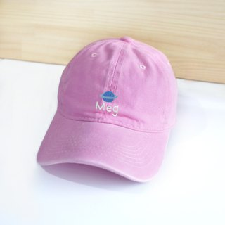 [Q-cute] hat series - Saturn plus word / customized / retro wind baseball cap