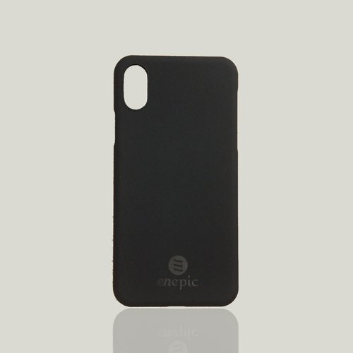 【New】 enepic minimalist LOGO plastic back cover ‧ matte black ‧ iPhone X ‧ 5.8 ""