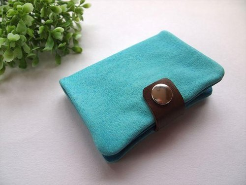Pig leather soft card case [hand-dyed leather] 167002