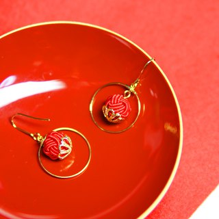 japanese style pierce earring / mizuhiki / japan / accessory / traditional