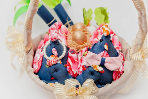 【Cowboy 咩 咩】 wedding road chicken wedding small piece of denim fabric with road chicken