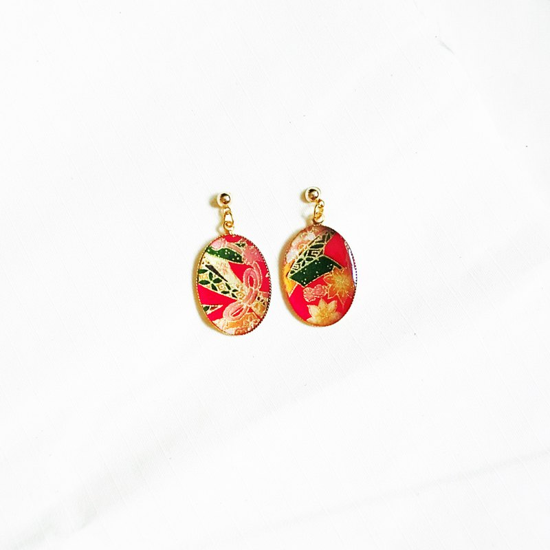 red series washi earrings #018