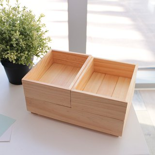 Stackable storage wooden box