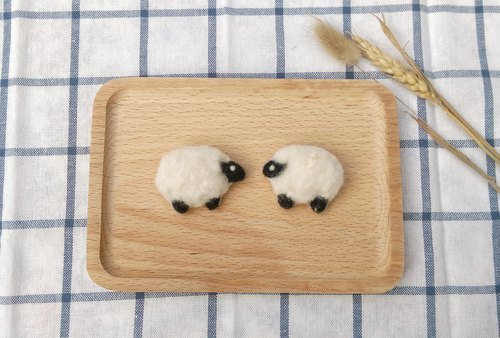 Needle Felt Animal Sheep Brooch