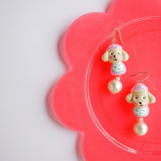 Clay earrings pet Teddy earrings ear hook