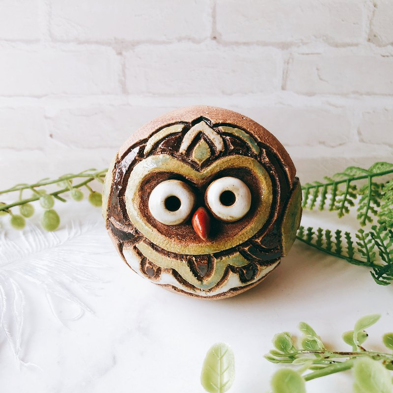 C-38 Owl Tao Ling │ Yoshino Hawk x Office Small Things Pottery Design Bell Cute Gift