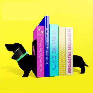 British Mustard Bookend - Dachshund
