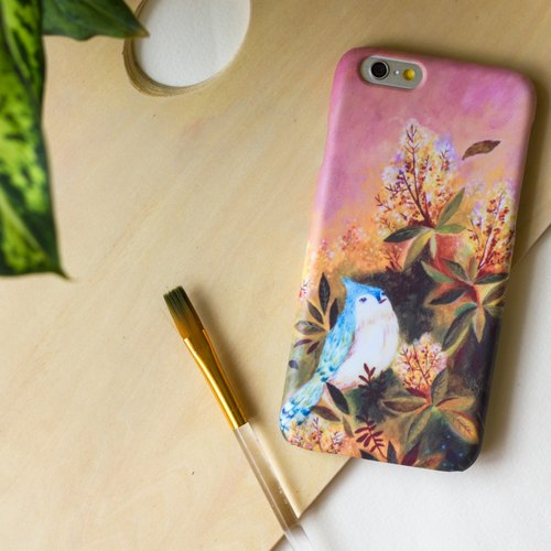 A blue bird is waiting in the wind. Matte Case (iPhone, HTC, Samsung, Sony)