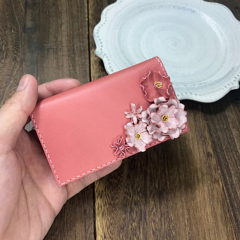 Elegant leather version Sakura Card Box